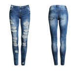 Girl Damaged Jeans Slim Jeans em Plus Size