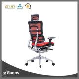 Asiento ergonómico de la oficina del asiento de cuero ejecutivo con el soporte lumbar