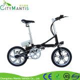 """16の"""" Eのバイクを折る空気タイヤのディスクブレーキの電気バイク"""