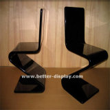 Cadeira de jantar de acrílico personalizada com perna de metal (BTR-Q3002)
