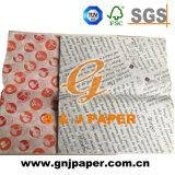 Papel 100% de embalaje impreso blanco del emparedado del magnesio para el acondicionamiento de los alimentos