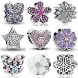Encanto europeu de 925 grânulos de vidro de grânulos de vidro de Murano dos grânulos da prata esterlina