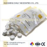 Tablette comprimée magique de tissu facial de pièce de monnaie d'emballage de sac de fermeture éclair