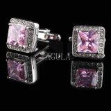 Соединения тумака 518 Zircon Gemelos подарка венчания Cufflinks роскошных кристаллический людей VAGULA французские