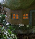 Polyresin im Freien dekoratives Garten-feenhaftes Haus-Solarlicht