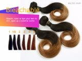 brasilianische Haar Ombre Farbe der Jungfrau-7A gerade kurze Bob Haar-Webart 1b-Brown