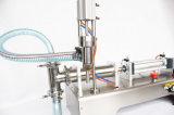 Solo llenador líquido semi auto horizontal del líquido de la máquina de rellenar de la pista