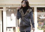 Preiswerte Frauen-Mantel-Schwarz-Polyester-Umhüllung 100%