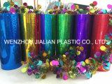 Rigid Holographic / láser de PVC película / hoja con colores para las decoraciones de Navidad
