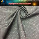 La mini tela de la verificación para la chaqueta de los hombres en hilados de polyester teñió (YD1032)