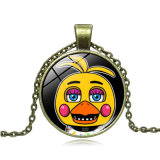 Presente de jóias de fantasia - Cinco noites no brinquedo de Freddy Gem Time Pendant Necklace Alloy