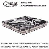 泡端によって厚くされる編むファブリックカバー家具Fb852が付いている自然な乳液の圧縮のスプリング入りマットレス