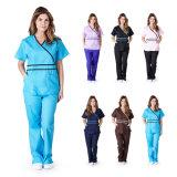 Mock uniforme de enfermería del Hospital Médico para mujer del abrigo de contraste (A582)