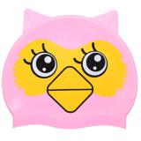 猫の形の赤ん坊のシリコーンの水泳帽