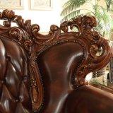 Sofà di cuoio di lusso impostato per la mobilia del salone