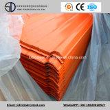 El color cubrió (prepintado) la hoja de acero acanalada galvanizada del material para techos