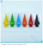 78g 12PCS 3D lápices de colores plásticos para estudiantes y niños