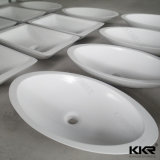 Petits bassin de main de lavage et piédestal ovales en pierre de marbre (B1705101)