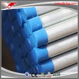 Precio galvanizado sumergido caliente de los tubos de acero del material de construcción de Consruction