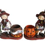 樹脂のカボチャ置物のHalloweenの祝祭の装飾