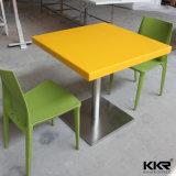 Искусственная каменная мраморный желтая квадратная обедая таблица