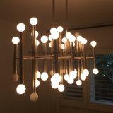 Modern Elegant Iron Rectangular Lights 42 Chandeliers de bambu