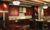 Gabinete de cozinha de madeira contínuo da vila quente da venda