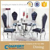 Doppelte GlasEdelstahl-Fuss-Esszimmer-Möbel