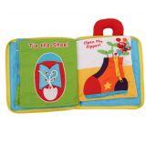 Livros macios educacionais do bebê de pano com dobra