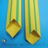 Трубопровод пробки Shrink жары желтый и зеленый Striped жары Shrink