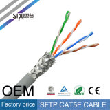 Câble LAN de réseau de ftp SFTP Cat5e de l'en cuivre UTP de flet de Sipu