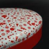 Het kosmetische Rode Blik van het Tin/Doos met de Vorm van de Driehoek van de Cirkel (T003-V5)