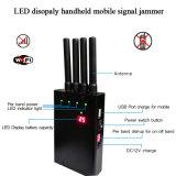 4 potere della visualizzazione di LED dell'emittente di disturbo del segnale di Callphone WiFi GPS 4G della maniglia della fascia