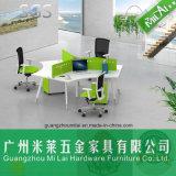 3 Sitzergonomische Berufsbüro-Computer-Arbeitsplatz-Tisch-Möbel mit Metallfuß