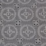 Tissu circulaire de lacet de coton de broderie de type