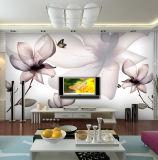 Kundenspezifische preiswerte schöne Wohnzimmer Fernsehapparat-Hintergrund-Wand-Wandbild-Tapete