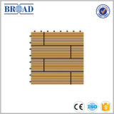 Suelo plástico de madera del Decking del compuesto DIY