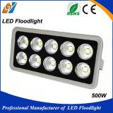 Luz de inundación estrecha impermeable al aire libre del ángulo 500W LED de la haba de la buena calidad