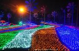 Luz de Natal impermeável da luz da cortina da decoração da corda do diodo emissor de luz