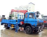 Dongfeng 고품질은 5개 T 기중기로 트럭 10 톤 로더 트레일러 거치했다