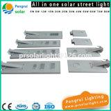 Sensor de luz de la calle 8W LED integrado solar con mando a distancia para el jardín