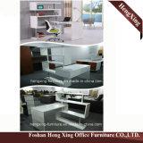 Mesa de escritório barata do preço da tabela lateral grande da noz Hx-Nt3238 preta
