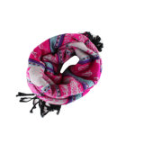 Kundenspezifisches Yarnd färbte Jacquardwebstuhl gemischten Frauen-Schal