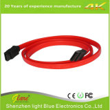 Venta al por mayor 50cm 7 Pin SATA cable con clip