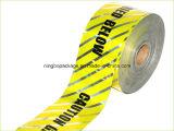 Ruban d'avertissement détectable de base en aluminium pour la protection des tuyaux de gaz