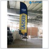 Aluminium-u. Faser-Glas-Markierungsfahnen-Pole-Fliegen-Fahnen-Bildschirmanzeige (LT-17C)