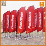 Kundenspezifische Fiberglas-Poleteardrop-Strand-Feder-Fliegen-Markierungsfahne (TJ-27)