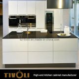 Мебель кухни конструкции шкафа красивейшего лоска белая обыкновенная толком (AP149)