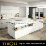Gabinete de cozinha branco lustroso da pintura do projeto funcional do console de cozinha (AP083)