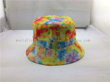 Chapeau blanc bon marché de position de qualité de chapeau de Cloche d'impression de dessin animé pour des dames